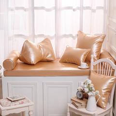 高档皮革飘窗垫(总) 30x45cm(  腰靠  ) 香槟金