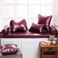 高档皮革飘窗垫(总) 30x45cm(  腰靠  ) 紫金