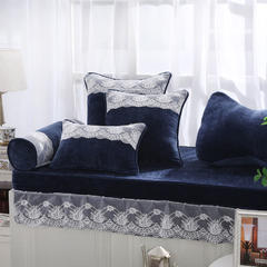 韩版仿羊绒飘窗垫(总) 30x45cm(腰靠 ) 宝蓝
