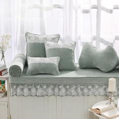 韩版仿羊绒飘窗垫(总) 30x45cm(腰靠 ) 灰绿