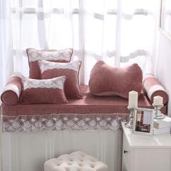 韩版仿羊绒飘窗垫(总) 30x45cm(腰靠 ) 砖红