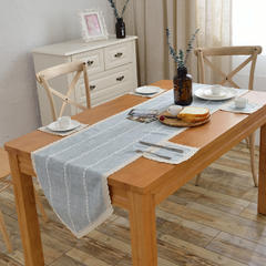 2018新款-桌旗餐垫 40*130cm/一条 蓝灰条纹