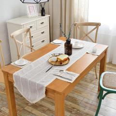 2018新款-桌旗餐垫 40*130cm/一条 米咖条纹
