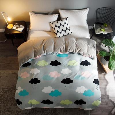 2018新款-法莱绒+暖肤棉被套单品被套 180x200cm 彩云