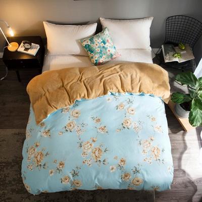 2018新款-法莱绒+暖肤棉被套单品被套 180x200cm 花梦