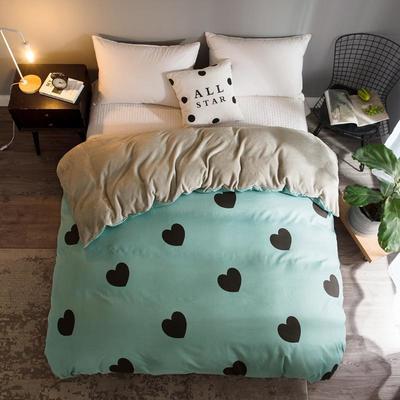 2018新款-法莱绒+暖肤棉被套单品被套 180x200cm 绿心