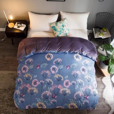 2018新款-法莱绒+暖肤棉被套单品被套 180x200cm 蒲公英