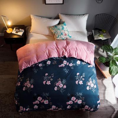 2018新款-法莱绒+暖肤棉被套单品被套 180x200cm 蔷薇