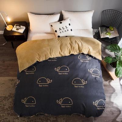 2018新款-法莱绒+暖肤棉被套单品被套 180x200cm 小海豚