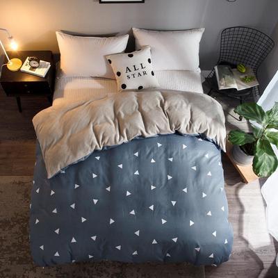 2018新款-法莱绒+暖肤棉被套单品被套 180x200cm 小三角