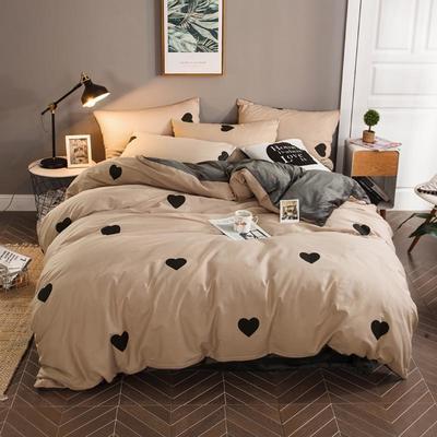 2018新款-暖肤棉+法莱绒四件套 1.2m(4英尺)床 心愿