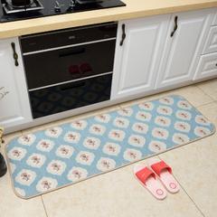 2018新款欧式雪尼尔地垫--厨房地垫 50cm*150cm 梅花-兰