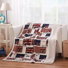 (美式休闲 )羊羔绒复合毯 (11色) 130*160 cm 多彩英国