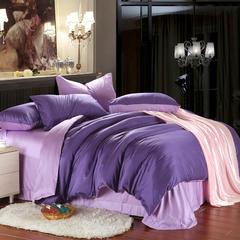 60支双拼色天丝四件套 标准 紫罗兰配浅紫
