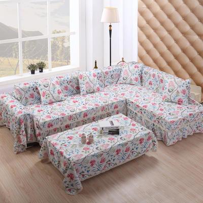 美系双花边沙发巾美系风格沙发罩 45*45不含芯/只 蝶燕花开