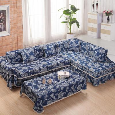美系双花边沙发巾美系风格沙发罩 210*200 古韵