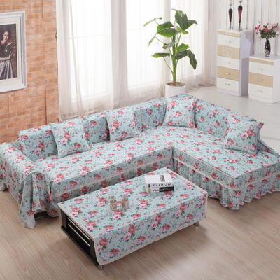 美系双花边沙发巾美系风格沙发罩 210*200 花细恋歌