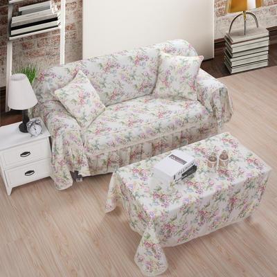 美系双花边沙发巾美系风格沙发罩 210*200 花香世界