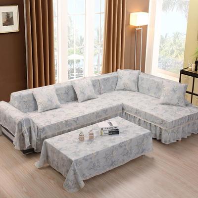 美系双花边沙发巾美系风格沙发罩 210*200 素雅