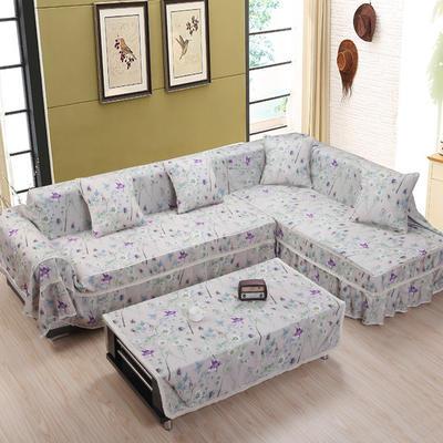 美系双花边沙发巾美系风格沙发罩 210*200 紫艳芳香