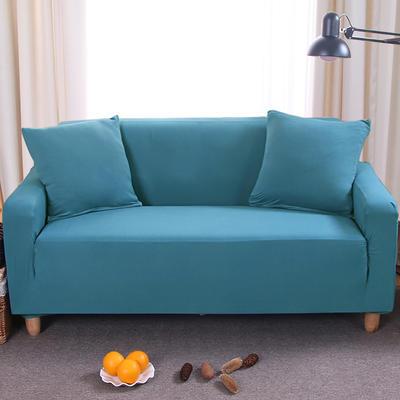 纯色沙发套 单人位90*140 湖蓝色