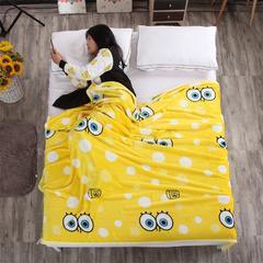 金貂绒毛毯 120*200 海绵宝宝