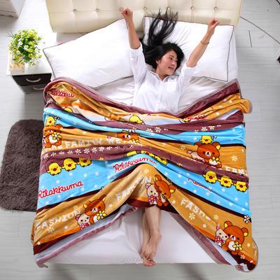 金貂绒毛毯 120*200 卡通乐园