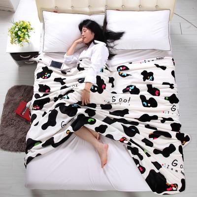 金貂绒毛毯 120*200 温馨奶牛