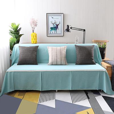 纯色沙发床沙发巾风格(无扶手) 210*230cm/沙发床套 蓝韵简爱