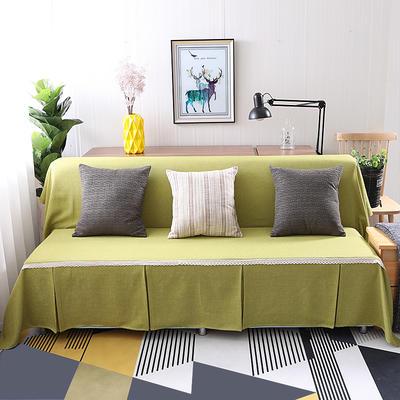 纯色沙发床沙发巾风格(无扶手) 210*230cm/沙发床套 秋韵