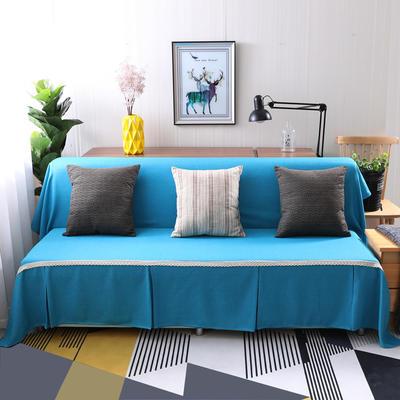 纯色沙发床沙发巾风格(无扶手) 210*230cm/沙发床套 天之蓝