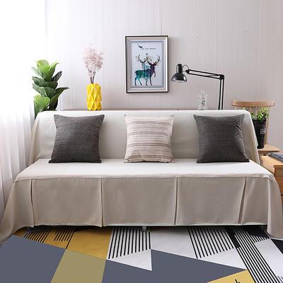 纯色沙发床沙发巾风格(无扶手) 210*230cm/沙发床套 小米黄