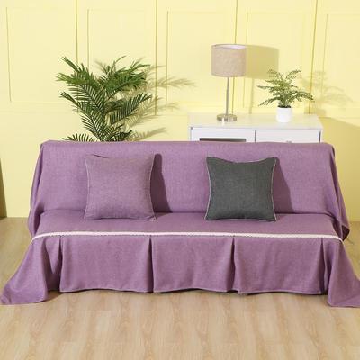 纯色沙发床沙发巾风格(无扶手) 210*230cm/沙发床套 紫色