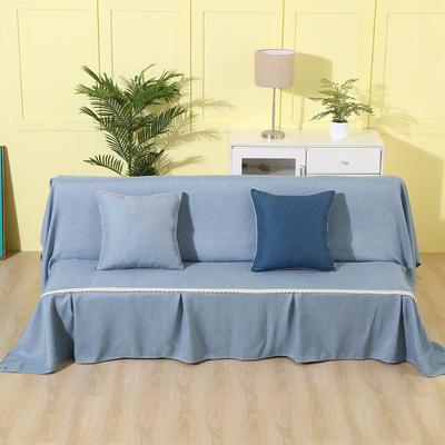 纯色沙发床沙发巾风格(无扶手) 210*230cm/沙发床套 浅蓝