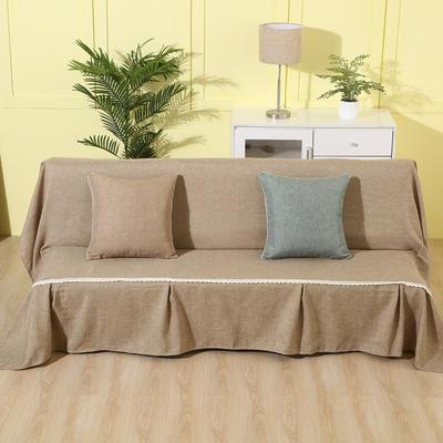 纯色沙发床沙发巾风格(无扶手) 210*230cm/沙发床套 驼色