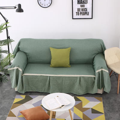 2018新款纯色沙发床沙发巾风格(有扶手) 210*230cm/沙发床套 雅韵(45*45抱枕套/只)