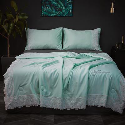 2019新款法式天丝夏被 同款枕套/对 水绿色