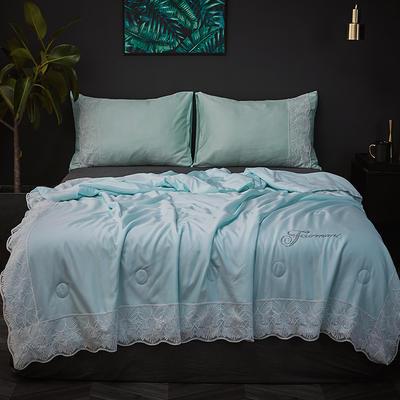 2019新款法式天丝夏被 同款枕套/对 天蓝色