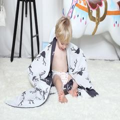 2017 新款12国儿童毯子 75*110cm 麋鹿头
