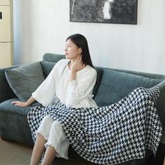 2017 新款千鸟格系列毯子 130*180cm 黑
