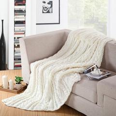 针织盖毯.沙发毯.休闲午睡毯.床尾巾-棒针毯 180*200 2