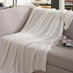 针织盖毯.沙发毯.休闲午睡毯.床尾巾-菱格毯子 120*180 白色菱格