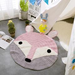 纯手工针织地垫.卧室.飘窗.儿童房地垫-新款地垫系列动物地垫 80*80cm 狐狸地垫