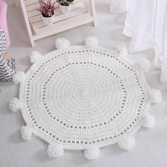 纯手工针织地垫.卧室.飘窗.儿童房地垫-新款地垫系列镂空地垫 80*80cm 白色