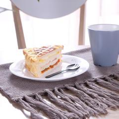 美式ins 全棉隔热手工流苏针织餐巾北欧 餐垫-新款餐巾垫欢乐牧场系列 40*55cm 棕色