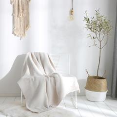 2018新款布兰登毛毯 130cmx160cm 白色