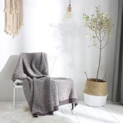2018新款布兰登毛毯 130cmx160cm 棕色