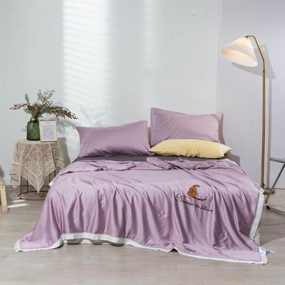 2021新款天丝竹纤维夏被—罗曼蒂 200X230cm 罗曼蒂-优雅紫