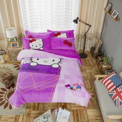 秋冬季新款雕花绒系列、绒、套件、 床盖、 标准(1.5-1.8m)床 凯蒂乐园