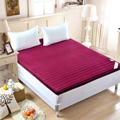 法莱绒立体床垫 纯色 0.9*2.0 纯色酒红